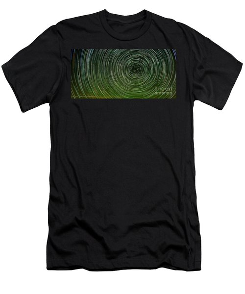 Shooting Star Trails Men's T-Shirt (Athletic Fit)