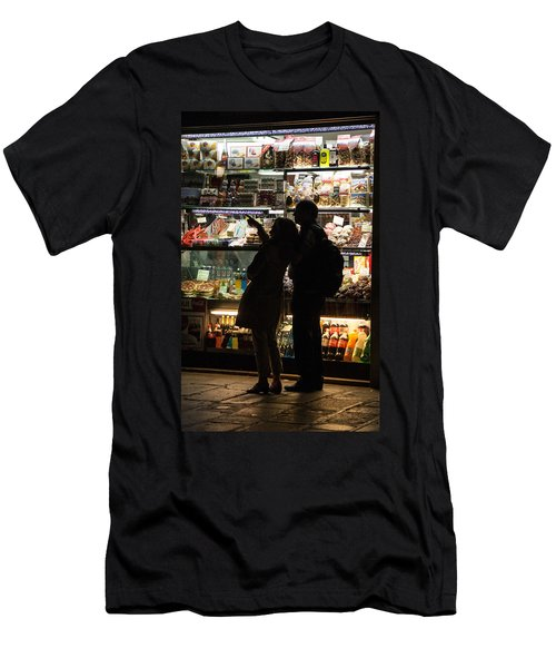 Men's T-Shirt (Slim Fit) featuring the photograph Shop by Silvia Bruno