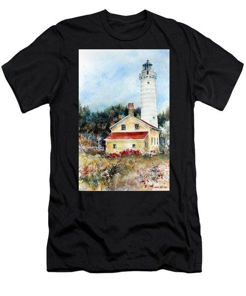 Shore Beacon Men's T-Shirt (Athletic Fit)