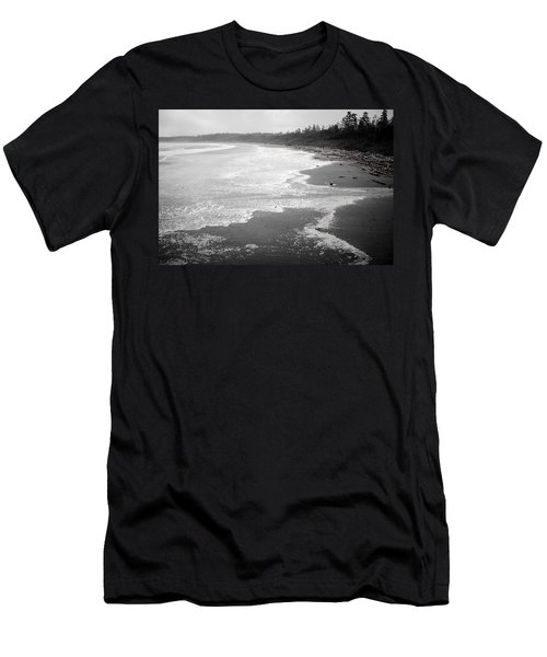 Winter At Wickaninnish Beach Men's T-Shirt (Athletic Fit)