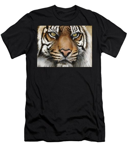Siberian Tiger Closeup Men's T-Shirt (Athletic Fit)