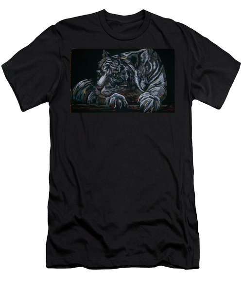 Men's T-Shirt (Slim Fit) featuring the pastel Siberian Tiger by Peter Suhocke