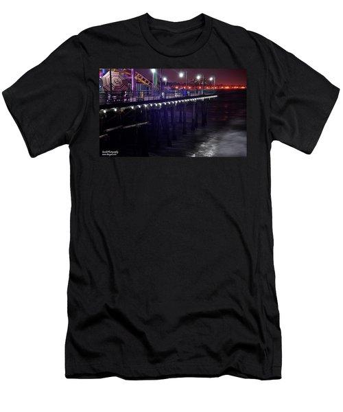 Side Of The Pier - Santa Monica Men's T-Shirt (Athletic Fit)