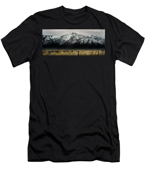 Sierra Nevada Mountains Near Lake Tahoe Men's T-Shirt (Slim Fit) by Steve Archbold