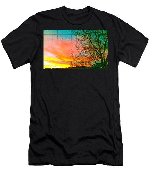 Sierra Sunset Cubed Men's T-Shirt (Athletic Fit)