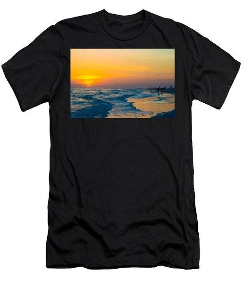 Siesta Key Sunset Walk Men's T-Shirt (Athletic Fit)