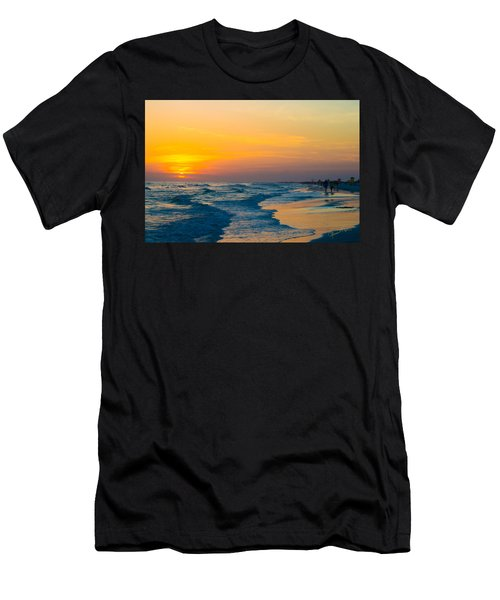 Siesta Key Sunset Walk Men's T-Shirt (Athletic Fit)