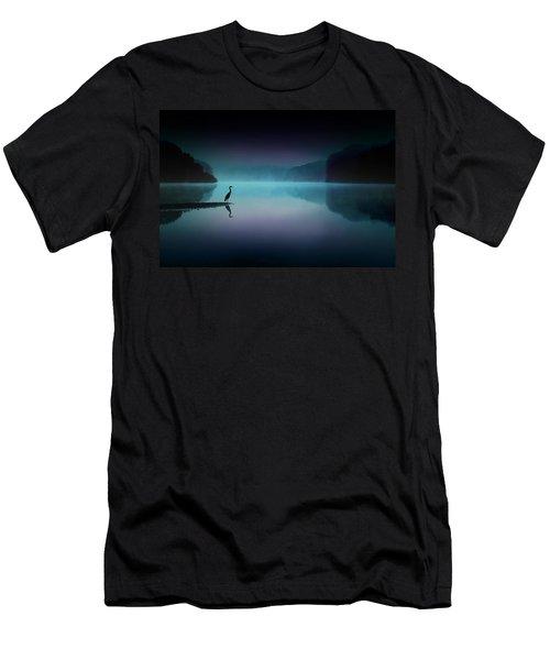 Silent Night Men's T-Shirt (Slim Fit) by Rob Blair