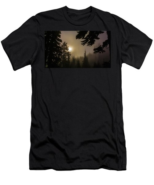 Silhouettes Of Trees On Mt Rainier II Men's T-Shirt (Athletic Fit)