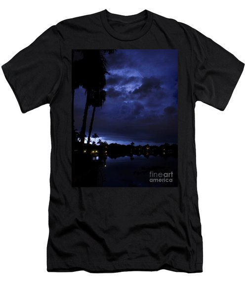 Silhouetting Palms Men's T-Shirt (Athletic Fit)