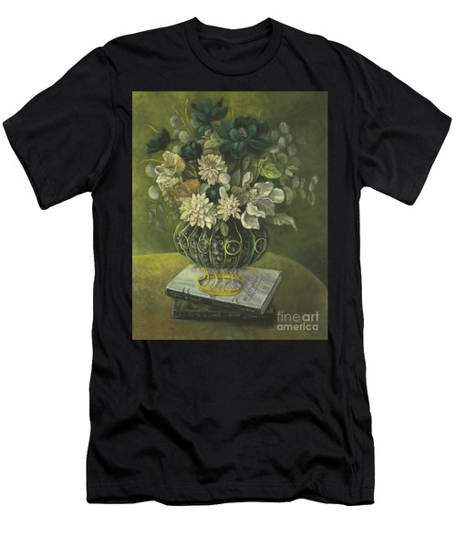 Silk Floral Arrangement Men's T-Shirt (Athletic Fit)