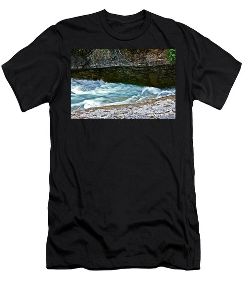 Men's T-Shirt (Slim Fit) featuring the photograph Silky Flow by Linda Bianic