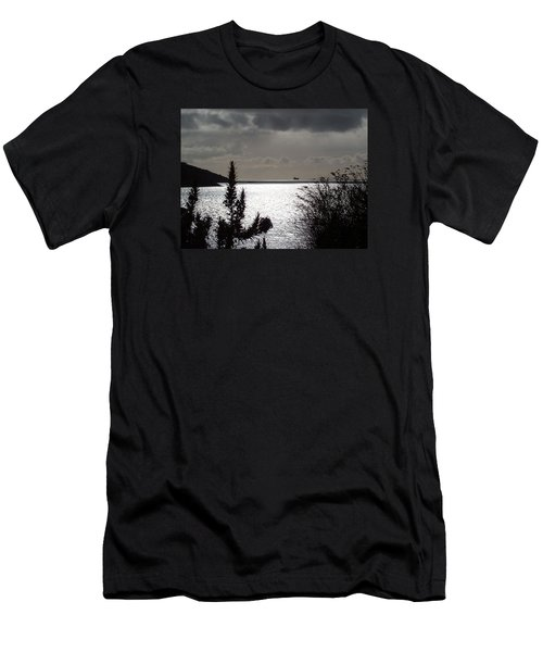 Silver Men's T-Shirt (Athletic Fit)