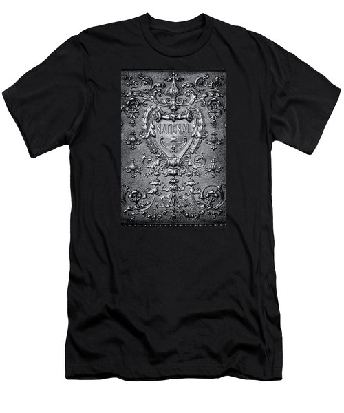 Silver Flourish Men's T-Shirt (Slim Fit) by Caitlyn  Grasso