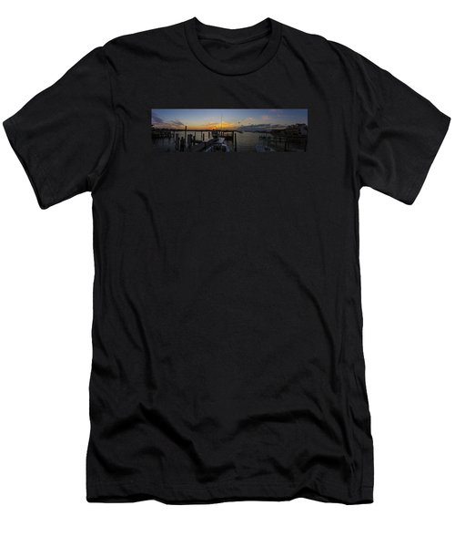 Silver Lake Sunset Panorama Men's T-Shirt (Athletic Fit)