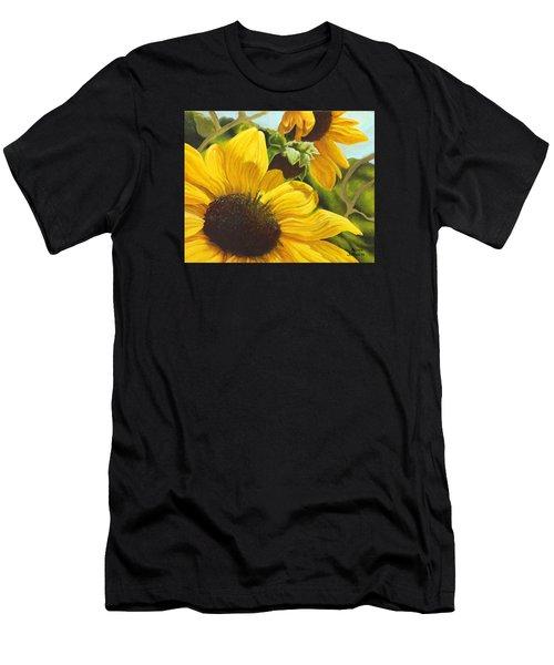 Silver Leaf Sunflowers Men's T-Shirt (Athletic Fit)