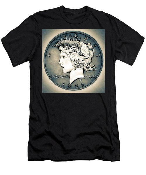 1922 Silver Proof Peace Dollar Men's T-Shirt (Athletic Fit)