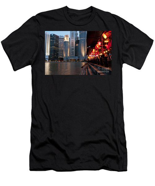 Singapore Boat Quay 02 Men's T-Shirt (Athletic Fit)