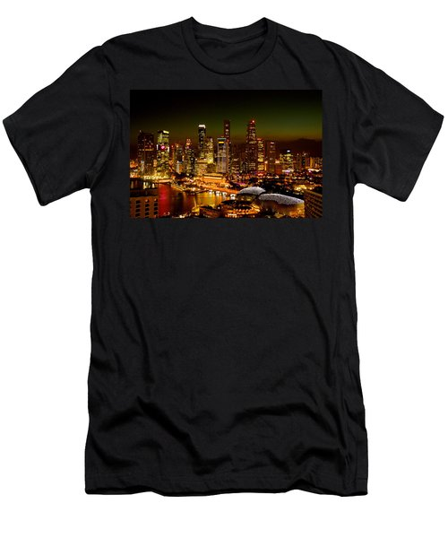 Singapore Skyline Men's T-Shirt (Athletic Fit)