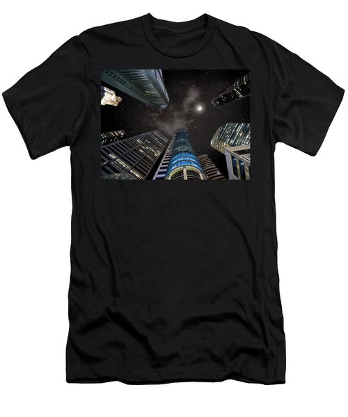 Singapore Moon Sky Men's T-Shirt (Athletic Fit)