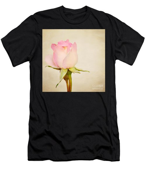 Single Baby Pink Rose Men's T-Shirt (Athletic Fit)