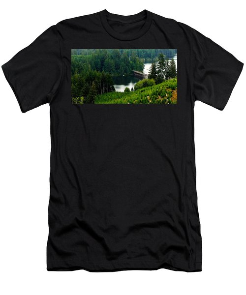 Men's T-Shirt (Slim Fit) featuring the photograph Single Boat by Katie Wing Vigil