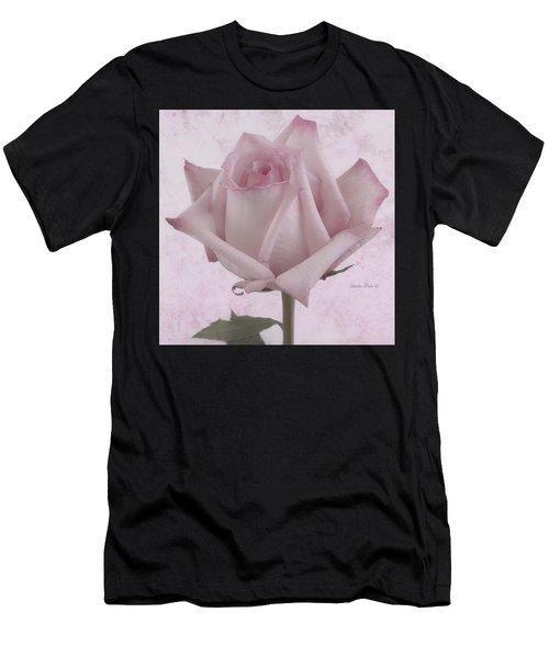 Single Pink Rose Blossom Men's T-Shirt (Athletic Fit)