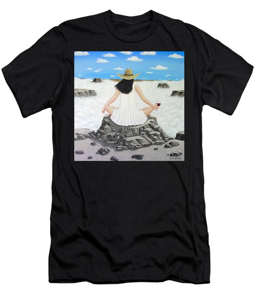 Sippin' On Top Of The World Men's T-Shirt (Athletic Fit)