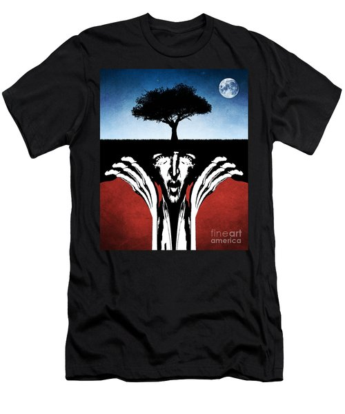 Men's T-Shirt (Slim Fit) featuring the digital art Sir Real by Phil Perkins