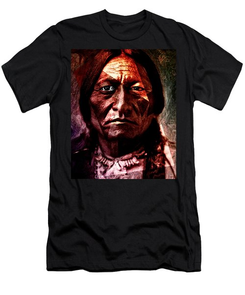 Sitting Bull - Warrior - Medicine Man Men's T-Shirt (Athletic Fit)