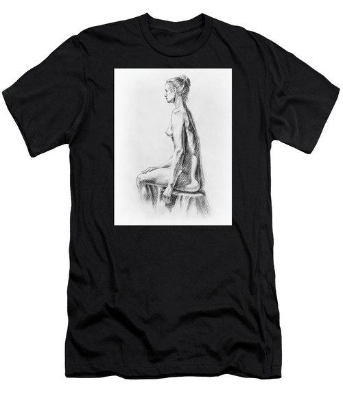 Sitting Woman Study Men's T-Shirt (Athletic Fit)