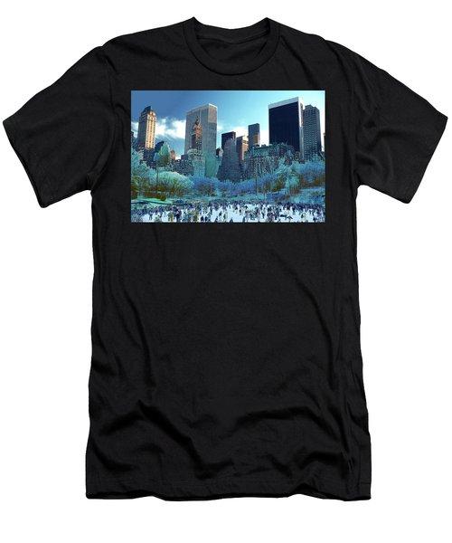 Skating Fantasy Wollman Rink New York City Men's T-Shirt (Athletic Fit)