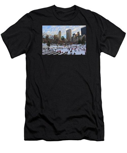 Skating In Central Park Men's T-Shirt (Athletic Fit)