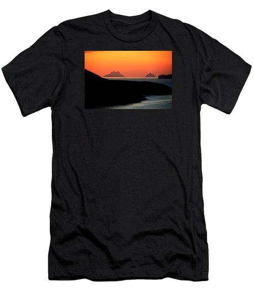 Skellig Islands  Men's T-Shirt (Slim Fit) by Aidan Moran