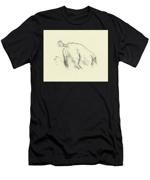 Sketch Of A Dog Digging A Hole Men's T-Shirt (Athletic Fit)