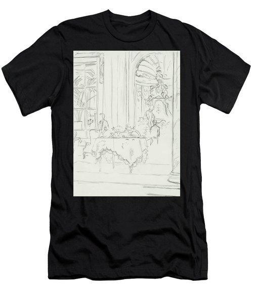 Sketch Of A Formal Dining Room Men's T-Shirt (Athletic Fit)