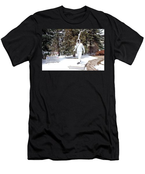Ski Trooper Men's T-Shirt (Slim Fit) by Fiona Kennard