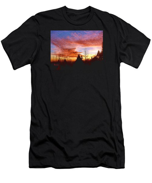 Men's T-Shirt (Slim Fit) featuring the photograph Skies Ablaze by Sadie Reneau
