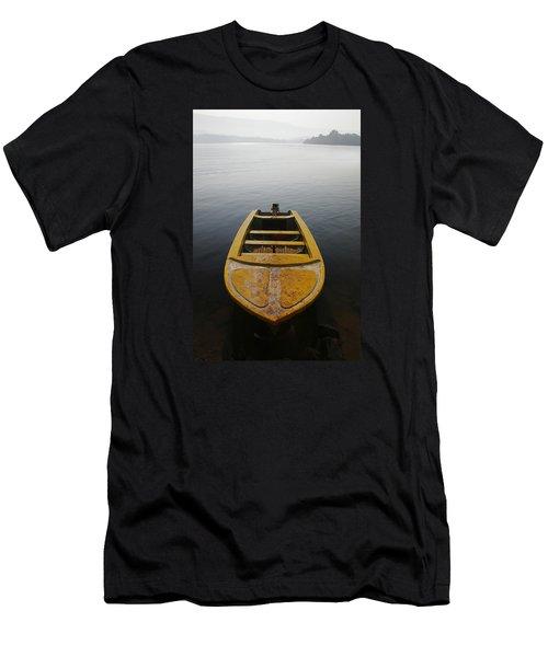 Men's T-Shirt (Slim Fit) featuring the photograph Skc 0042 Calmness Anchored by Sunil Kapadia