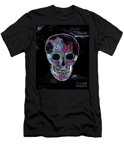 Men's T-Shirt (Slim Fit) featuring the painting Skull by Annie Zeno