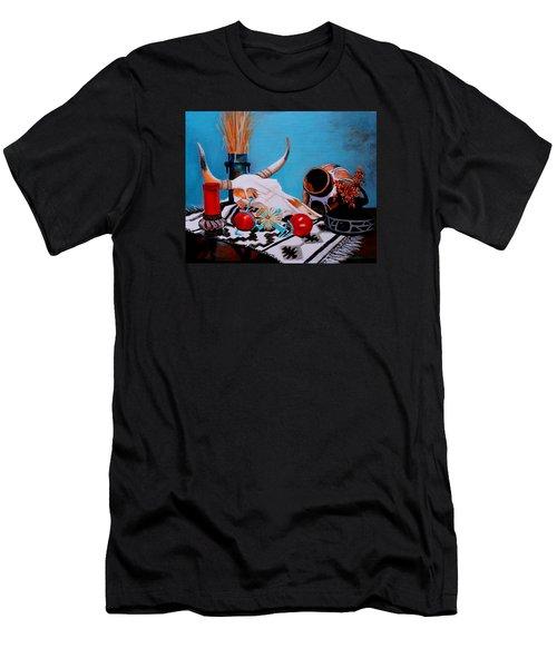 Skull Still Life Men's T-Shirt (Athletic Fit)