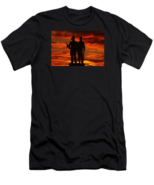 Sky Fire - 73rd Ny Infantry Fourth Excelsior Second Fire Zouaves-a1 Sunrise Autumn Gettysburg Men's T-Shirt (Athletic Fit)