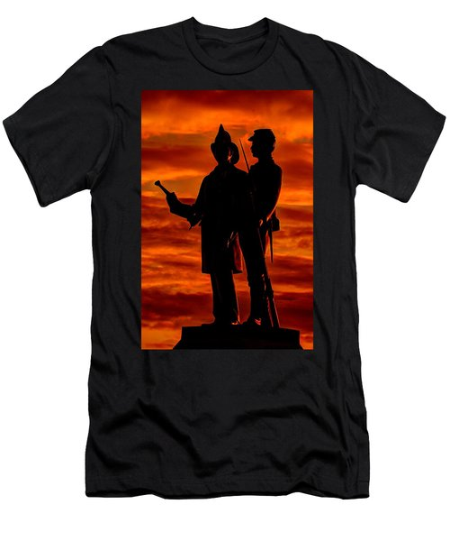 Sky Fire - 73rd Ny Infantry Fourth Excelsior Second Fire Zouaves-b1 Sunrise Autumn Gettysburg Men's T-Shirt (Athletic Fit)