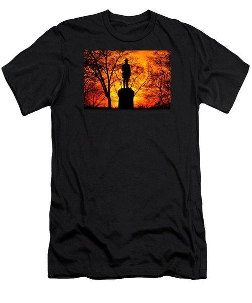 Sky Fire - Flames Of Battle 50th Pennsylvania Volunteer Infantry-a1 Sunset Antietam Men's T-Shirt (Athletic Fit)