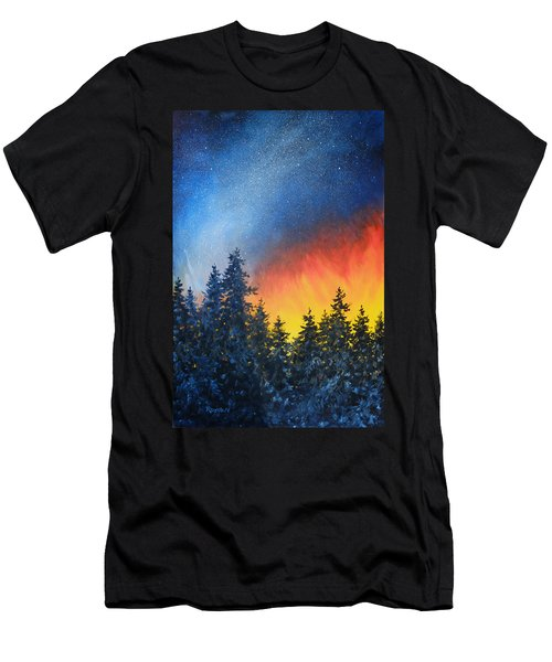 Sky Fire Men's T-Shirt (Athletic Fit)