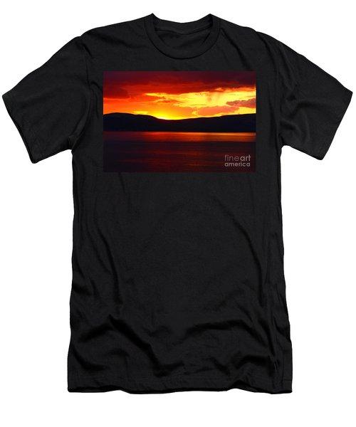 Sky Of Fire Men's T-Shirt (Slim Fit) by Aidan Moran