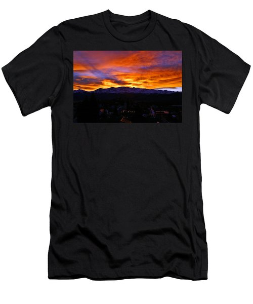 Men's T-Shirt (Slim Fit) featuring the photograph Sky Shadows by Jeremy Rhoades