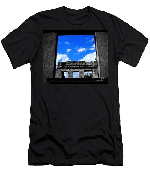 Men's T-Shirt (Slim Fit) featuring the photograph Sky Windows by Nina Ficur Feenan