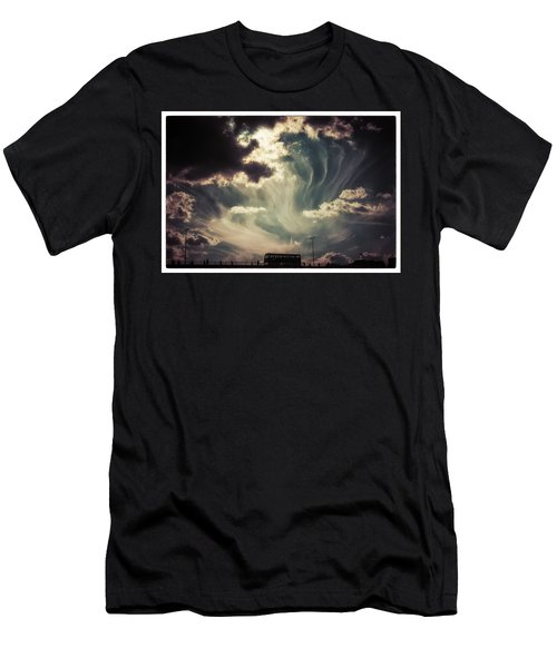 Sky Wisps Over A Double Decker Men's T-Shirt (Athletic Fit)
