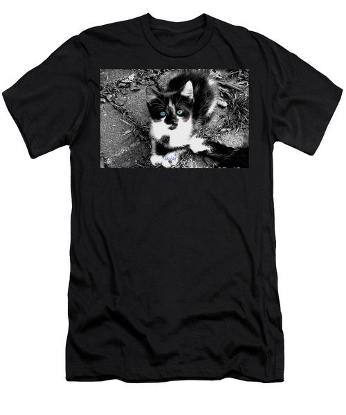 Men's T-Shirt (Slim Fit) featuring the photograph Skylar Aka Dottie by Cynthia Lassiter